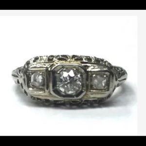 Vintage Ring .20 ctw old miners diamond